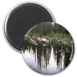 Cathedral Lakes Park 2 Inch Round Magnet