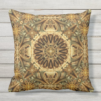 Cathedral Mandala Outdoor Pillow