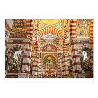 Cathedral Notre Dame de la garde in Marseille Postcard