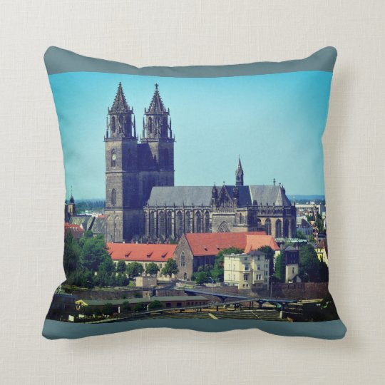 Cathedral of Magdeburg 001.F.04.6 Throw Pillow