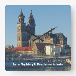Cathedral of Magdeburg 03.01.2T2 Square Wall Clock