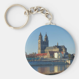 Cathedral of Magdeburg 03.01 Basic Round Button Keychain