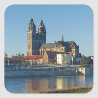 Cathedral of Magdeburg 03.01 Square Sticker