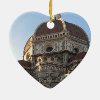 Cathedral of Saint Mary of the Flower in Florence Ceramic Heart Ornament