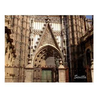 Cathedral of Seville facede Postcard