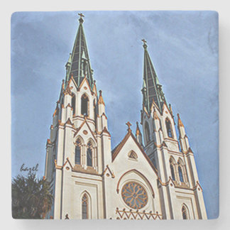 Cathedral of St. John the Baptist, Savannah, Stone Beverage Coaster