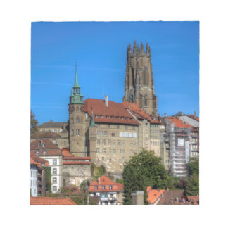 Cathedral of St. Nicholas in Fribourg, Switzerland Notepads