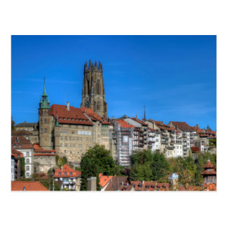 Cathedral of St. Nicholas in Fribourg, Switzerland Postcard