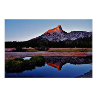 Cathedral Peak, Tuolume Meadows, Yosemite, CA. Poster