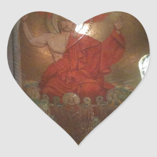 Cathedral religious painting sticker