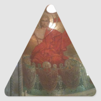 Cathedral religious painting triangle sticker