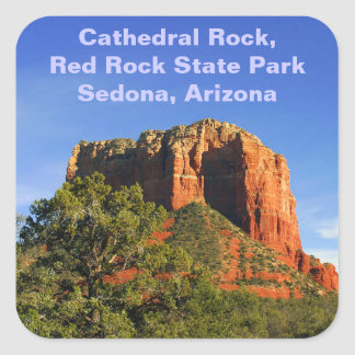 Cathedral Rock, Arizona Square Sticker