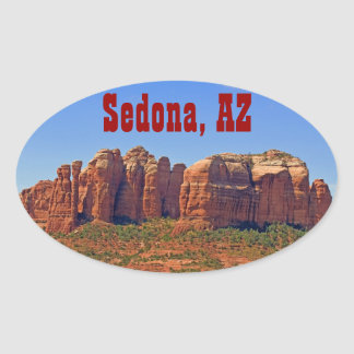 Cathedral Rock Oval Sticker