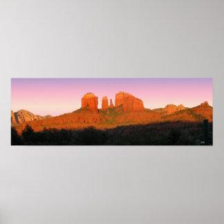 Cathedral Rock Sedona Panorama Poster