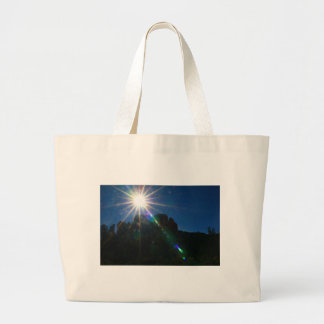 Cathedral Rock Vortex horizontal Large Tote Bag