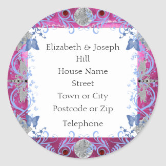 Cathedral Rubies Art Deco Favors Round Stickers