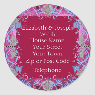 Cathedral Rubies Art Deco Favors Stickers