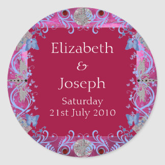 Cathedral Rubies Art Deco Favors Sticker
