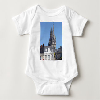 Cathedral Saint Maurice at Angers in France Baby Bodysuit