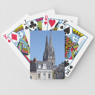 Cathedral Saint Maurice at Angers in France Bicycle Playing Cards