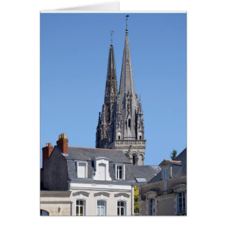 Cathedral Saint Maurice at Angers in France Card