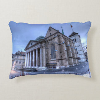 Cathedral Saint-Pierre, Peter, Geneva,Switzerland Accent Pillow