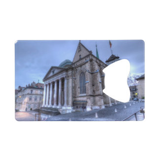 Cathedral Saint-Pierre, Peter, Geneva,Switzerland Credit Card Bottle Opener
