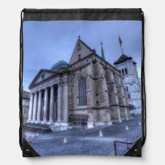 Cathedral Saint-Pierre, Peter, Geneva,Switzerland Drawstring Bag