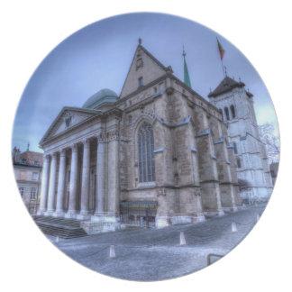 Cathedral Saint-Pierre, Peter, Geneva,Switzerland Plate