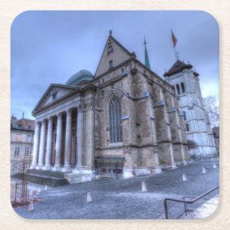 Cathedral Saint-Pierre, Peter, Geneva,Switzerland Square Paper Coaster