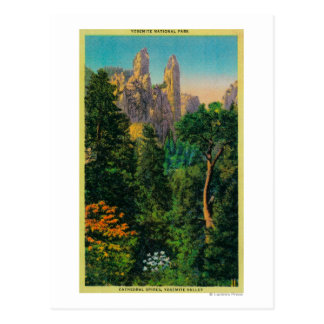 Cathedral Spires and Yosemite Valley Postcard