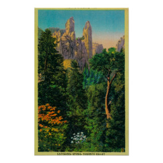 Cathedral Spires and Yosemite Valley Print