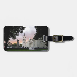 Cathedral Square in Vilnius, LITHUANIA --- Luggage Tag