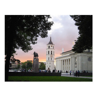Cathedral Square in Vilnius, LITHUANIA --- Postcard