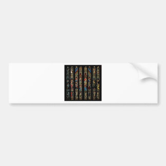 CATHEDRAL STAINED GLASS BUMPER STICKERS