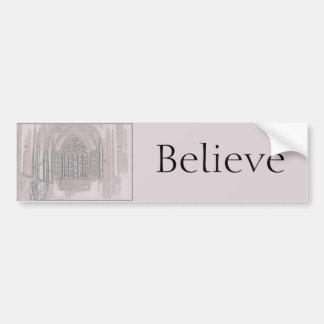 Cathedral Windows Bumper Sticker