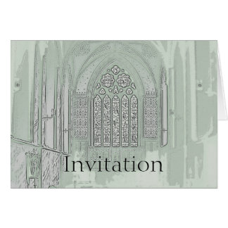Cathedral Windows Card
