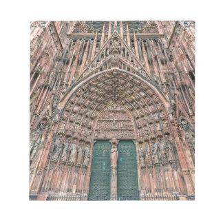 Cathedrale Notre-Dame, Strasbourg, France Notepads