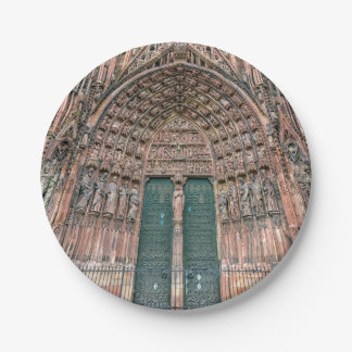Cathedrale Notre-Dame, Strasbourg, France Paper Plate