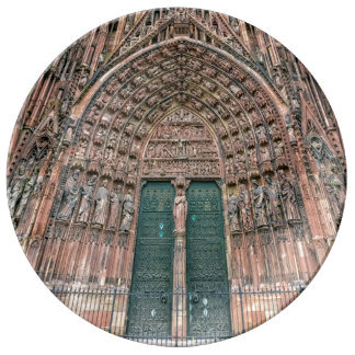 Cathedrale Notre-Dame, Strasbourg, France Plate