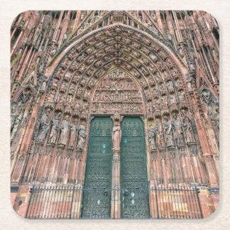 Cathedrale Notre-Dame, Strasbourg, France Square Paper Coaster