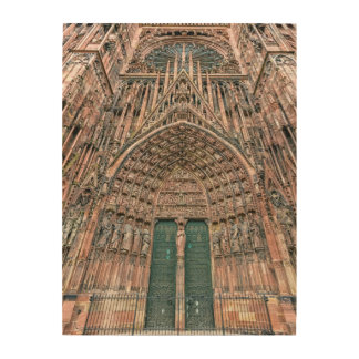 Cathedrale Notre-Dame, Strasbourg, France Wood Wall Art