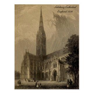 Cathedrals of England Series: Salisbury 1836 Postcard