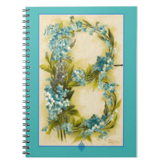 Catherine Klein Flower Alphabet Letter B Note Books