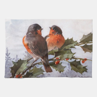 Catherine Klein: Robins on Holly Kitchen Towel