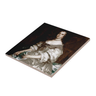 Catherine of Braganza by Sir Peter Lely Tile