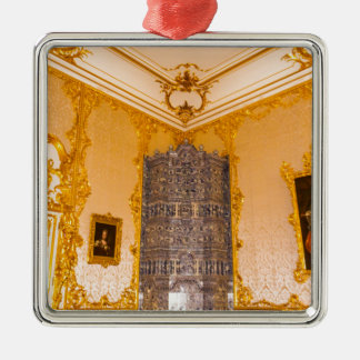 Catherine's Great Palace Tsarskoye Selo Amber Room Metal Ornament
