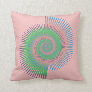 Catherine Wheel Spiral Throw Pillow