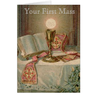 Catholic Altar Chalice Missal Eucharist Priest Card