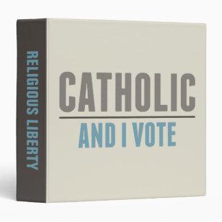 Catholic And I Vote 3 Ring Binder